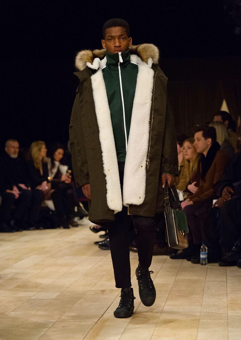 Men's Designers in London Embrace Fur for the Fall 2016 Season