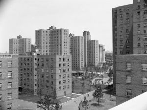 Affordable housing units in East Harlem in the 1950s.