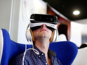 Samsung Gear VR: the next step in home viewing experiences?(Photo via Getty/Samsung)