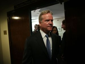 WASHINGTON, DC - OCTOBER 20: Former U.S. Sen. Jim Webb (D-VA) leaves after a news conference at the National Press Club October 20, 2015 in Washington, DC. Sen. Webb announced that he is dropping out of the Democratic presidential race. (Photo by Alex Wong/Getty Images)