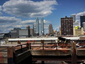 Development at Hudson Yards, on the far west side of Manhattan, in 2013. (Photo by Spencer Platt/Getty Images)