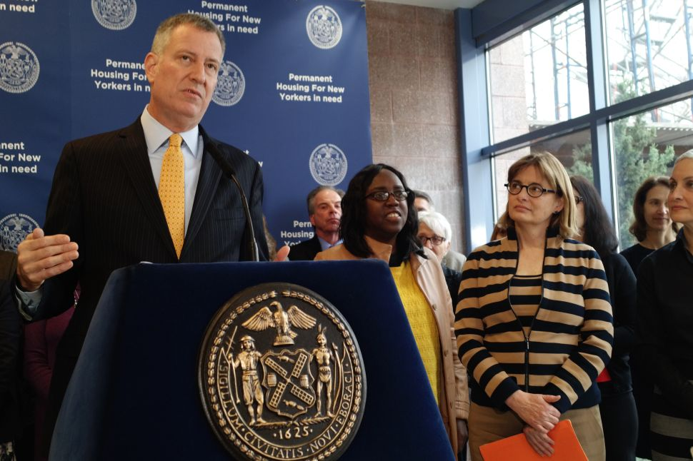 De Blasio Announces Task Force to Guide Supportive Housing for Homeless