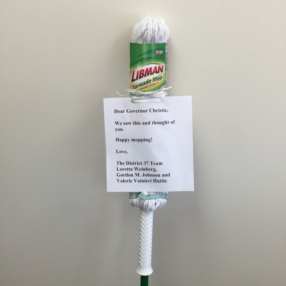 People are Sending Mops to Governor Christie