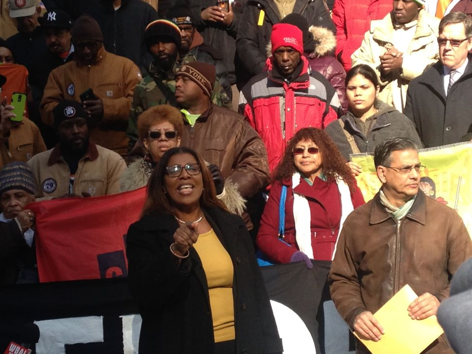 Letitia James and Scott Stringer Join Unions in Ripping Bill de Blasio's Housing Plan