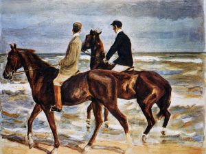 Max Liebermann's Riders on the Beach is among the works found in Cornelius Gurlitt's massive trove of art. (Photo: )
