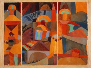 Paul Klee's Tempelgärten from 1920. (Photo: Courtesy of The Berggruen Klee Collection at the Metropolitan Museum of Art)