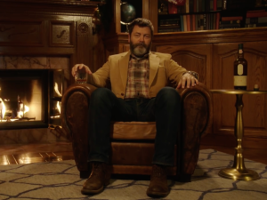 Nick Offerman's Whisky Yule Log. Photo: YouTube
