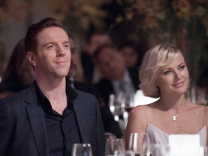 Damian Lewis plays hedge fund manager Bobby Axelrod in the new Wall Street drama 'Billions.' Malin Akerman plays Lara Axelrod. (Showtime)