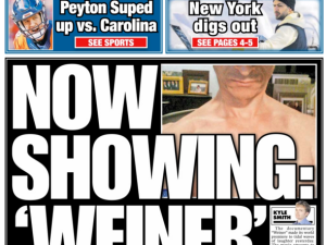 NY Post Weiner Cover