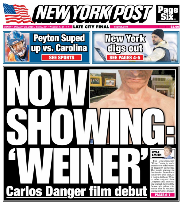 'Weiner' Coverage Is Out of Control, Thanks to New Film