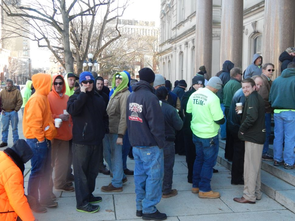 Building Trades Guys Descend on the Statehouse