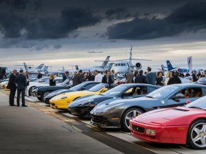 Cars and jets compete for attention at La Bella Macchina (Photo: Shamin Abas Public Relations).