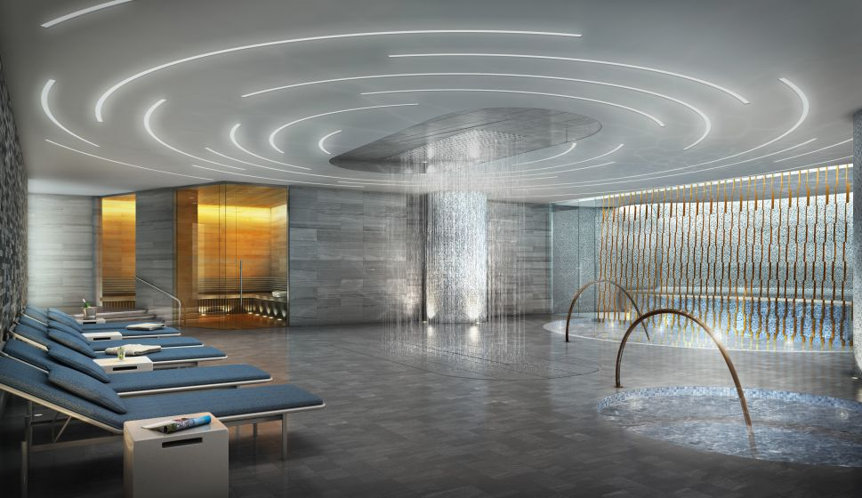 New York's Newest Fitness Club Offers Sky High City Views From Swimming Pools