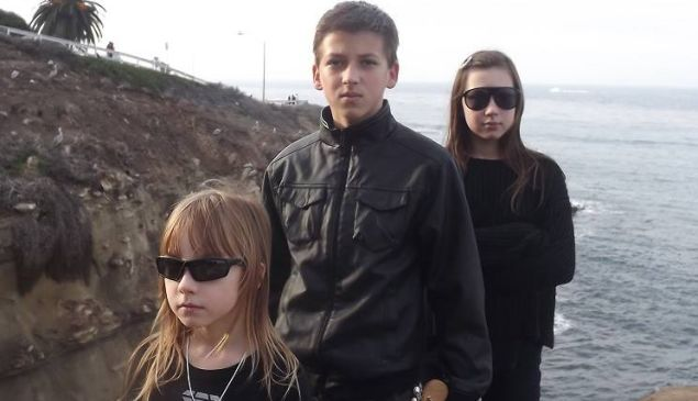 Stefan, Olga, and Cornelia, a.k.a. Children Medieval Band.