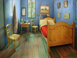 Vincent Van Gogh's Bedroom recreated at the Art Institute of Chicago. (Photo: Art Institute of Chicago via Instagram)