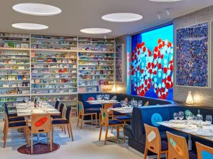 Artist Damien Hirst's new London restaurant Pharmacy2.