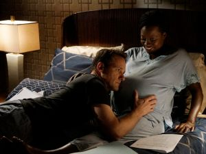 Tom Verica and Viola Davis in How to Get Away With Murder.
