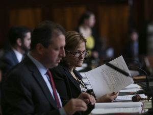 Councilman Brad Lander and Council Speaker Melissa Mark-Viverito at today's hearing. (Photo: William Alatriste/New York City Council)
