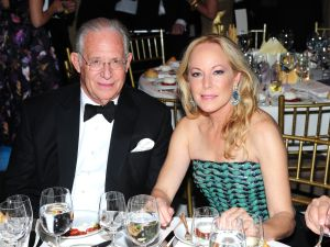 DNA guru Dr. William Haseltine and his wife, Maria Eugenia Maury, are leaving Trump World Tower for Fifth Avenue. (Photo: Owen Hoffmann/Patrick McMullan)