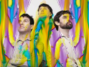 (L-R) Dave Portner (Avey Tare), Noah Lennox (Panda Bear), and Brian Weitz (Geologist) are the current lineup of Animal Collective
