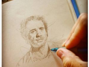 A sketch of Bobby Cannavale.