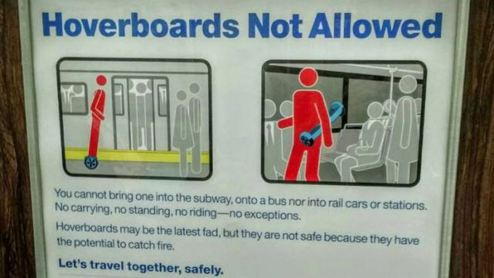 MTA Rolls Out New Posters Banning Hoverboards