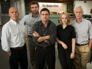 The cast of Spotlight, which won Best Picture at last night's Oscars.