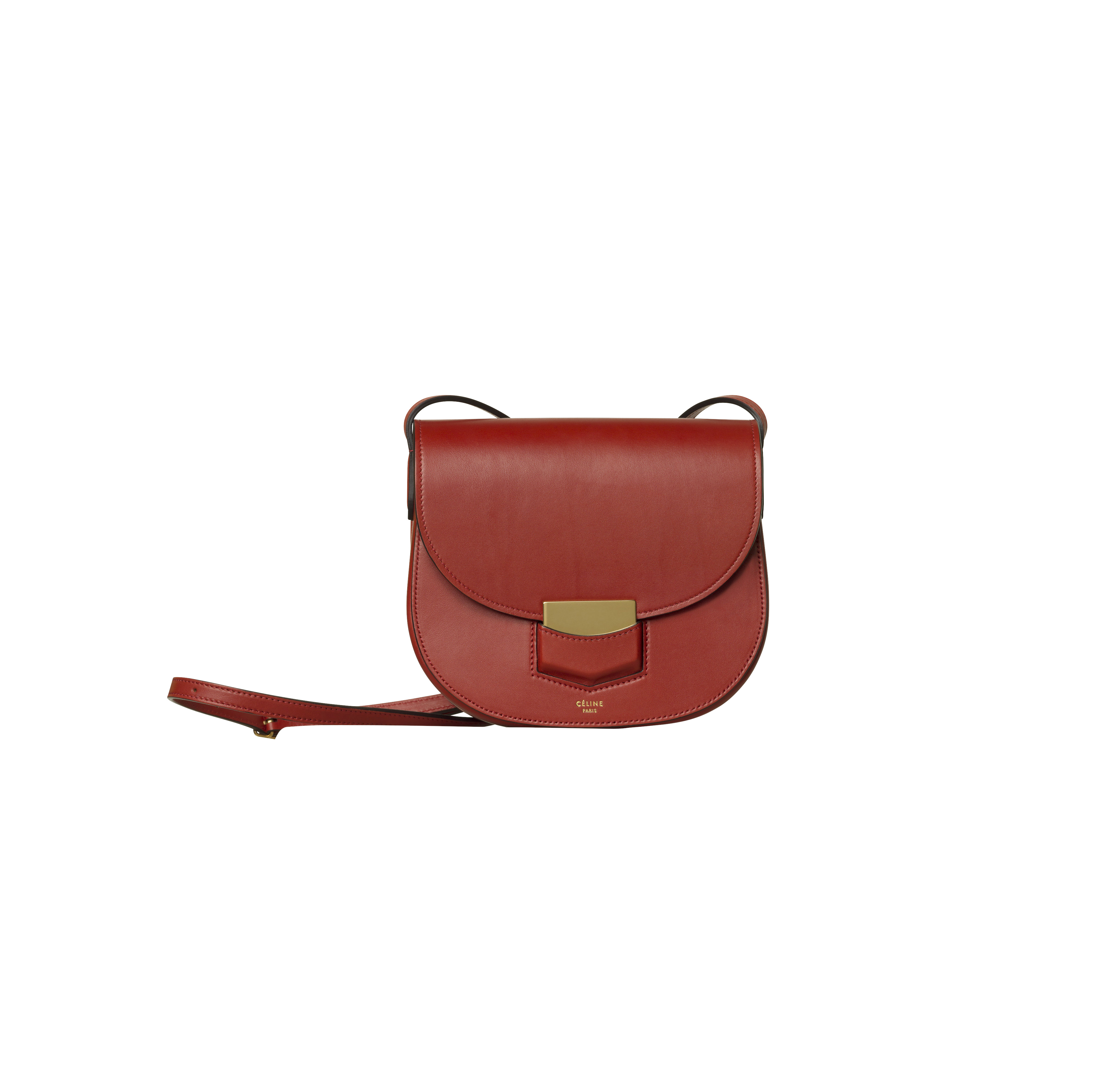 Small Trotteur Supersoft Calfskin in ruby, $2,250, Celine.com (Photo: Courtesy Celine).