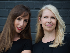 The co-founders of The Clarion List, Jessica Paindiris and Gaia Banovich