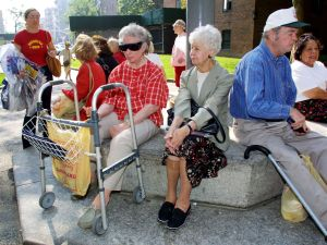 Senior citizens in Manhattan. (Photo: Monika Graff for Getty Images)