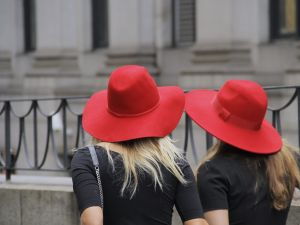 And here come the hats. (Photo: Georgie Wileman/Getty Images)