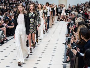 Burberry Prorsum show during London Fashion Week Spring/Summer 2016 (Photo: Ian Gavan/Getty Images).