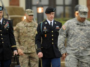 Bowe Bergdahl attends first hearing In Army court martial at Fort Bragg.