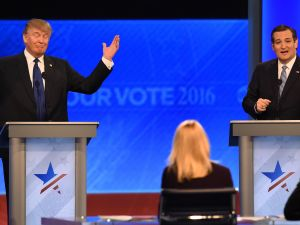 Donald Trump and Sen. Ted Cruz.