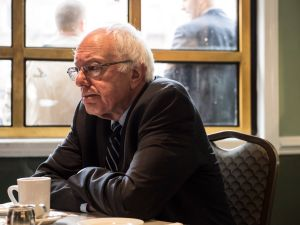 Sen. Bernie Sanders at Sylvia's Soul Food restaurant in Harlem.