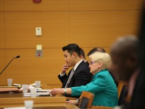 Officer Liang at his trial (Photo by Byron Smith-Pool/Getty Images)