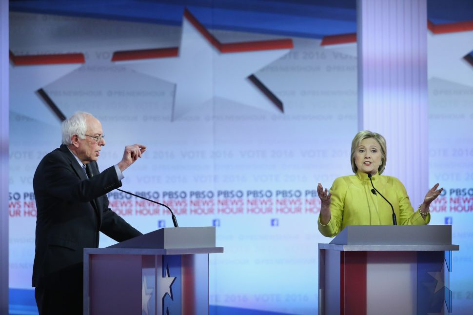 Hillary Clinton and Bernie Sanders Badger Each Other in Wisconsin