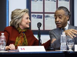 Hillary Clinton and Rev. Al Sharpton.