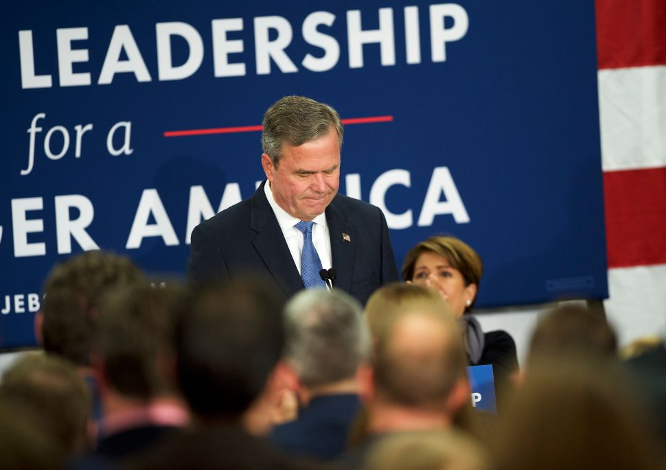 Jeb Bush: The Saddest Presidential Campaign in History Comes to an End