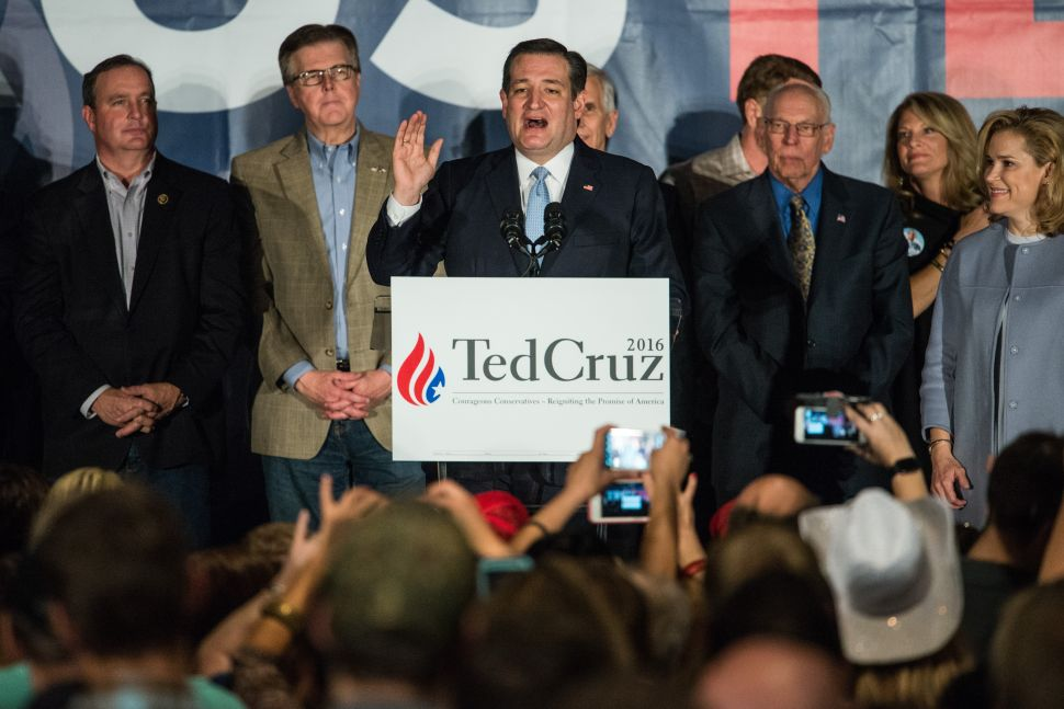 Ted Cruz Tries to Feel Good About a Disappointing Showing
