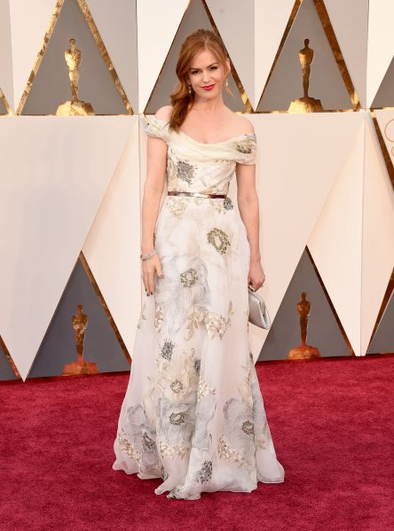 Isla Fisher in Marchesa