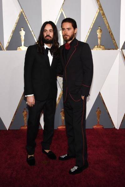 Alessandro Michele and Jared Leto in Gucci