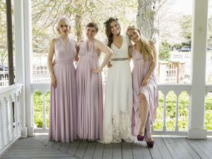 Zosia Mamet, Lena Dunham, Allison Williams and Jemima Kirke in Girls.