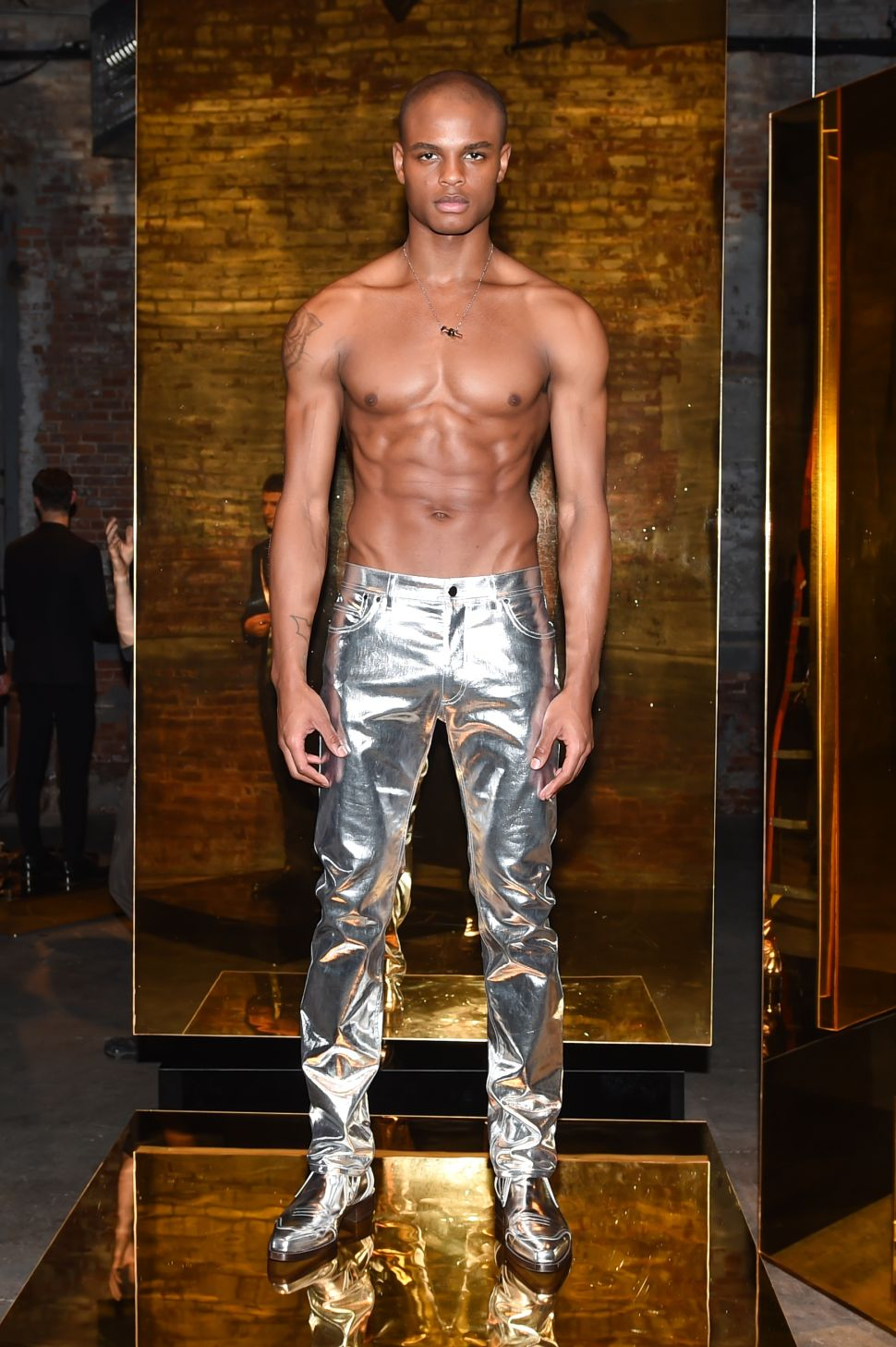 Calvin Klein Wants You to Consider Gilded Jeans for Evening
