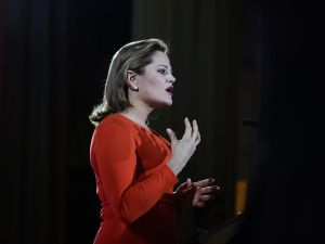 Council Speaker Melissa Mark-Viverito delivering her State of the City Speech today.