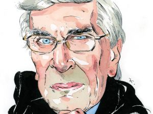 Illustration of actor Martin Landau