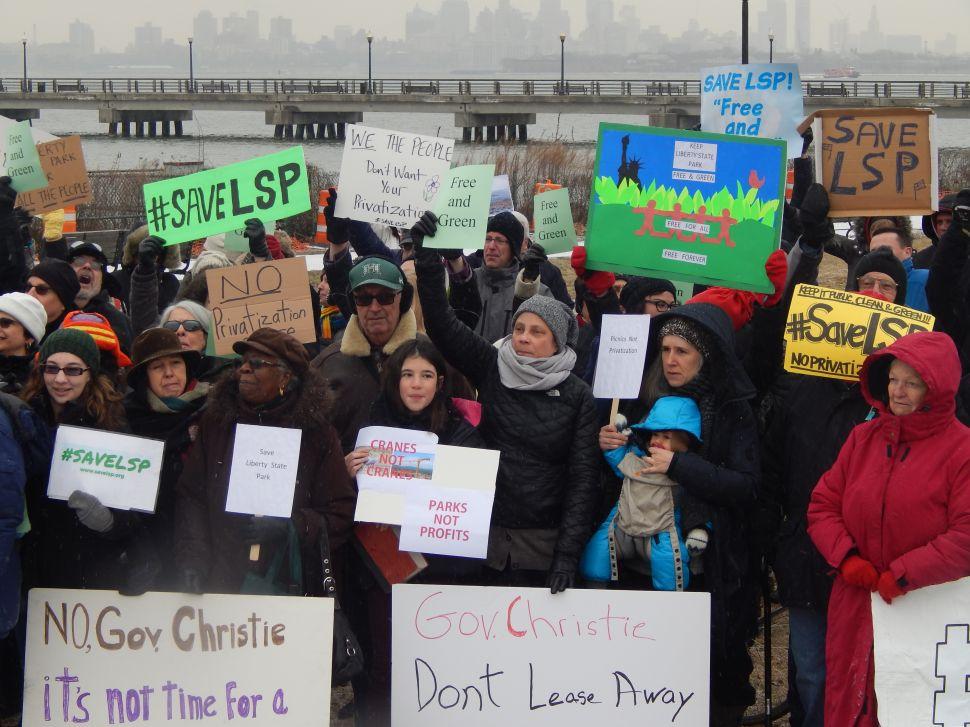 Activist Pesin Tells Gov. Christie to 'Get Hands off Liberty State Park'