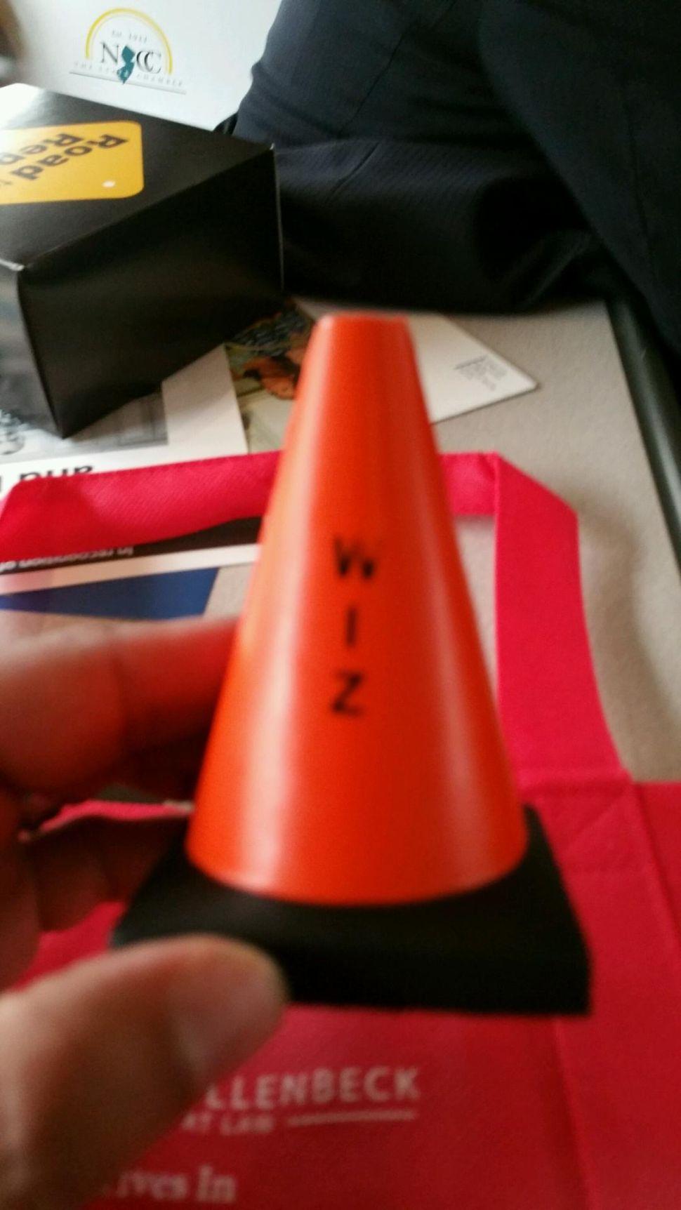 Wiz Traffic Cone Trinket Adorns Chamber Train