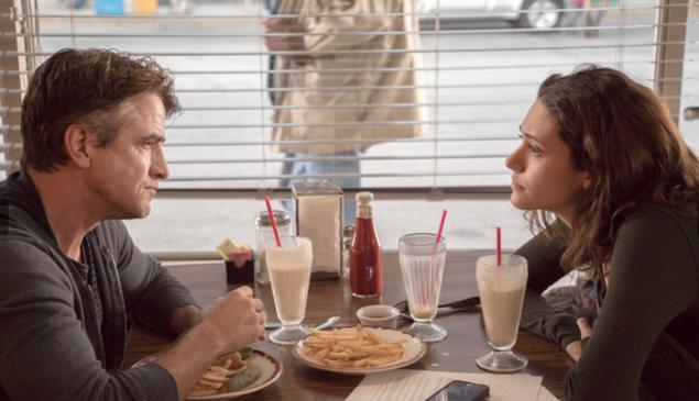 Dermot Mulroney and Emmy Rossum in Shameless.