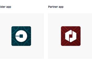 The New Uber logo